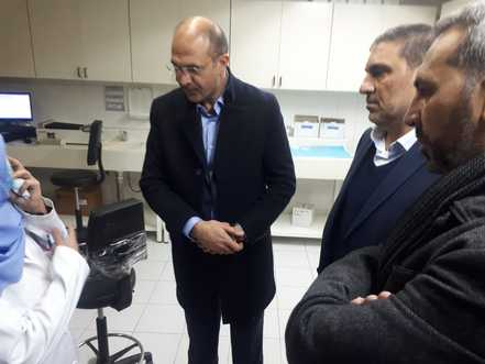 Lebanese Minister of Health checking up on coronavirus isolation center