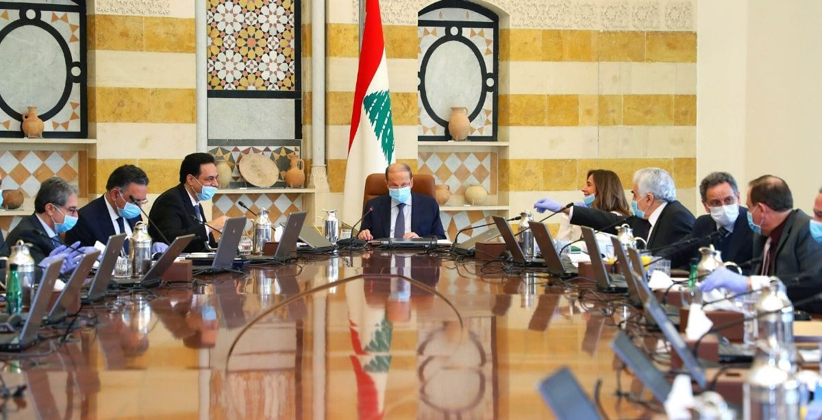 Lebanon's council of ministers meeting on March 19th