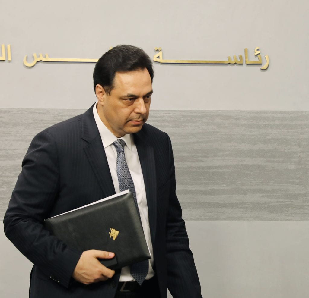 Prime Minister Hassan Diab During Eurobonds speech