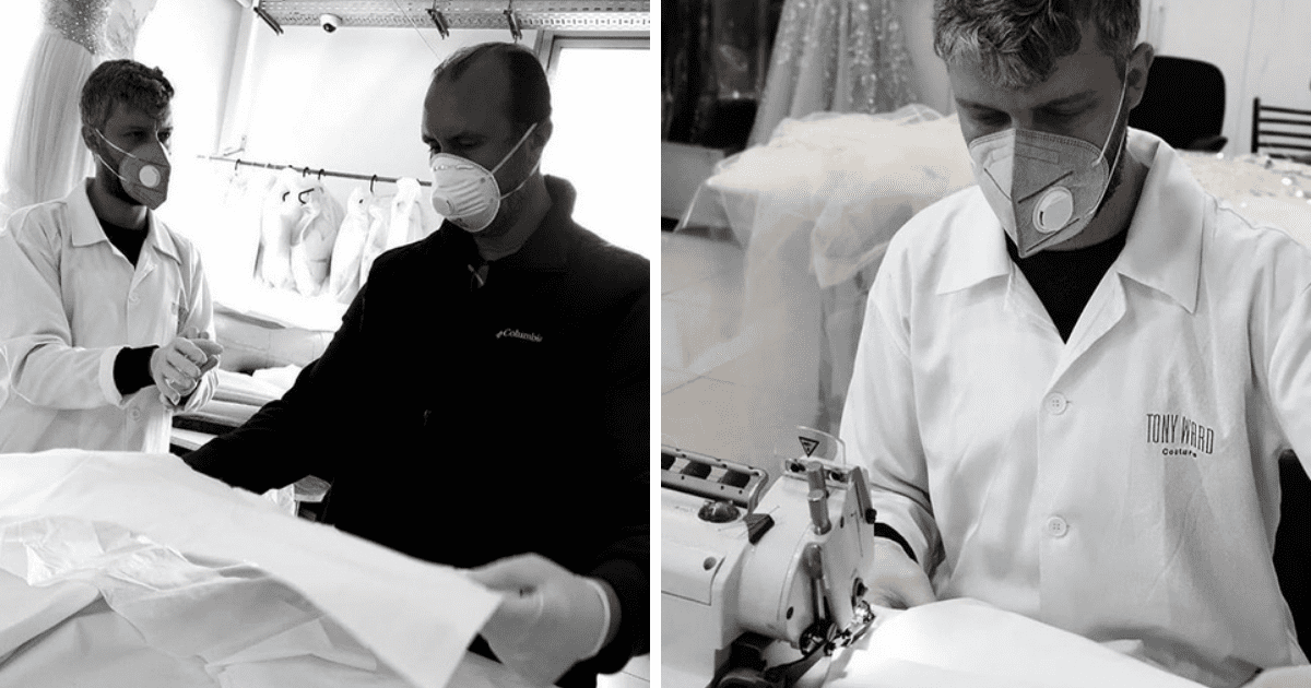 Tony Ward is Producing Bed Sheets for Local Hospitals