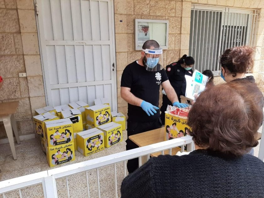 Food rations being prepared for needy Lebanese people