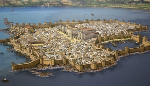 Illustration of the city of New Tyre