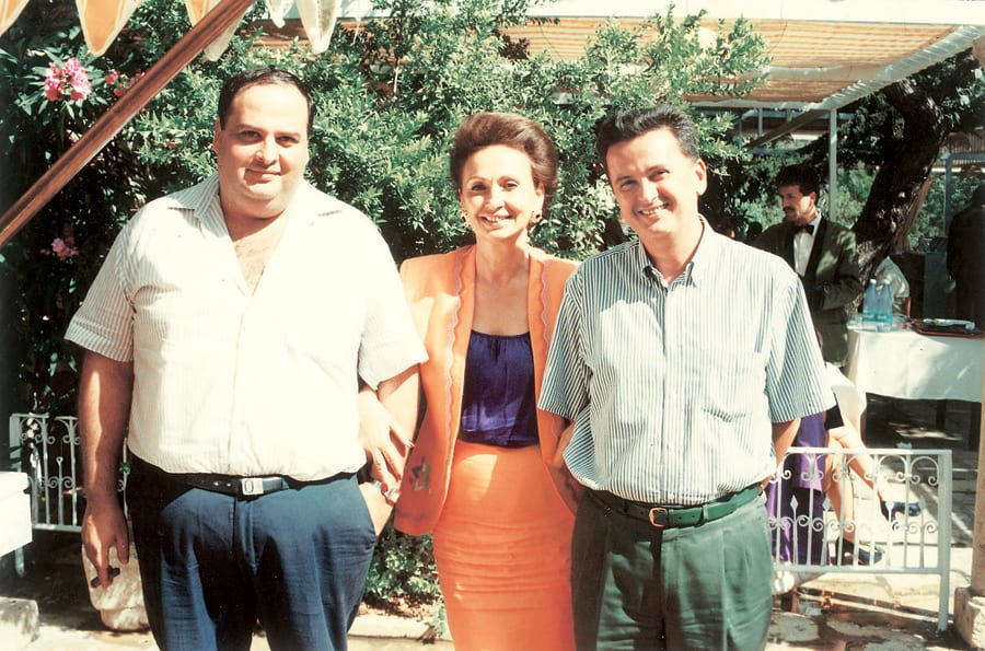 Riad Salameh alongside his parents