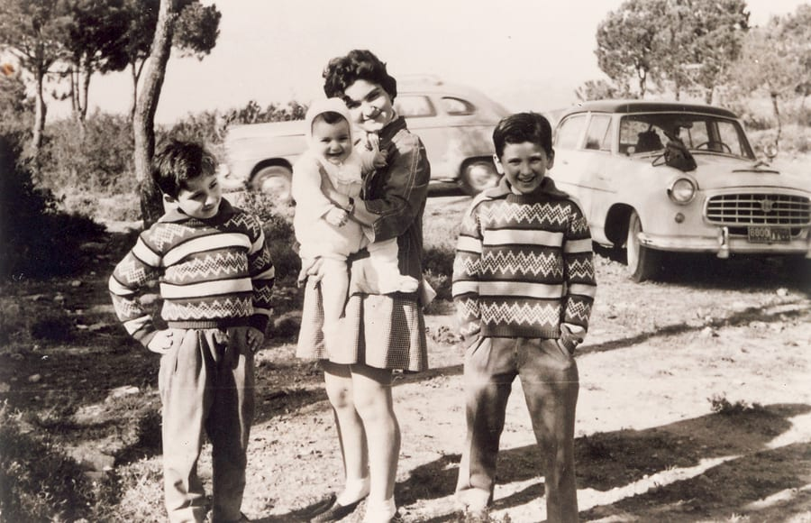 Riad Salameh alongside his siblings during his childhood