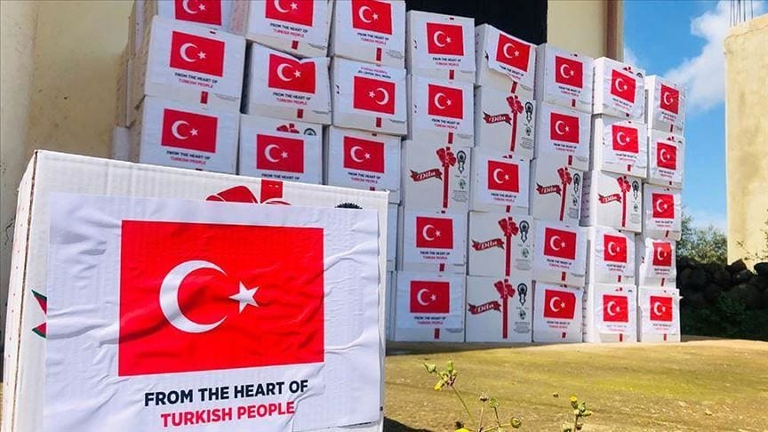 The Turkish Embassy in Lebanon distributed supplies in the North