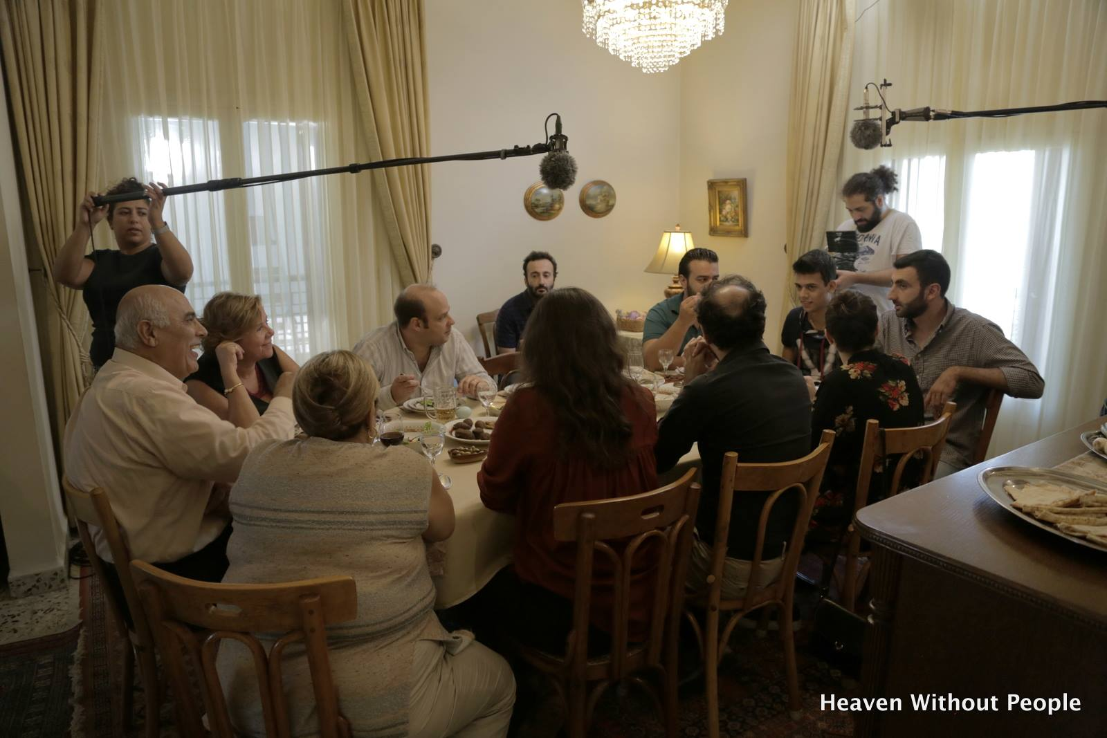 Heaven Without People cast at the dinner table
