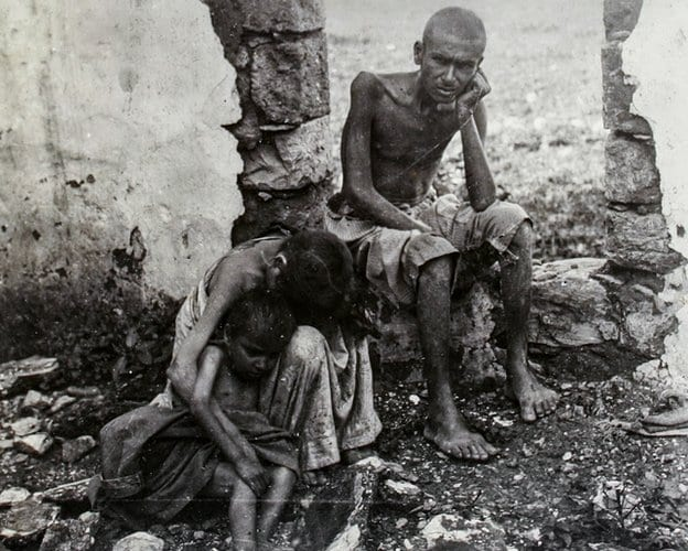 Starving children in Lebanon during the famine