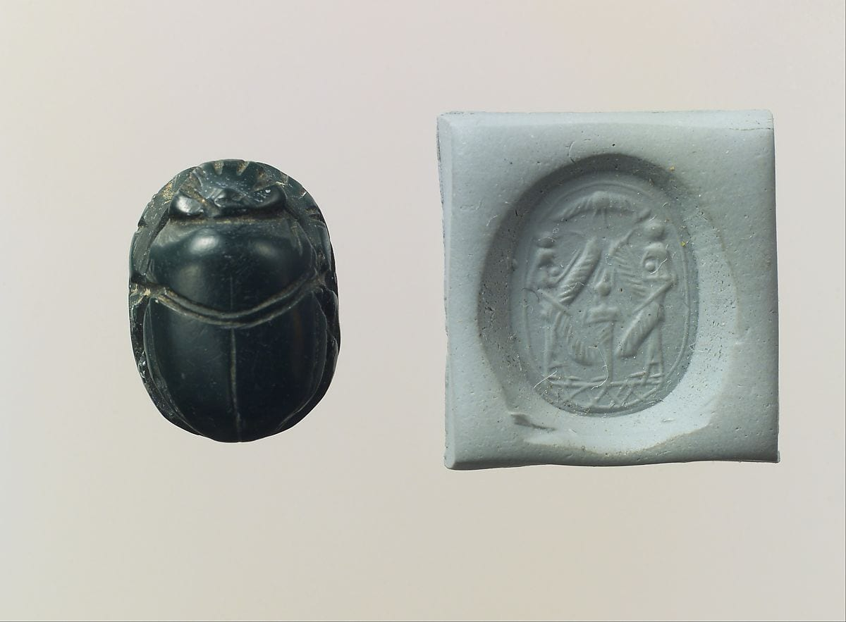 An ancient scarab seal