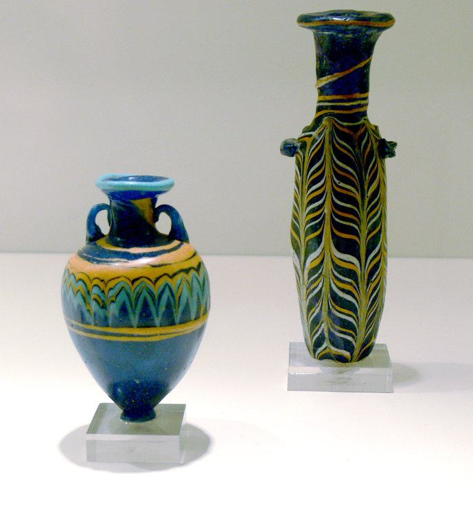 Phoenician colored glassware