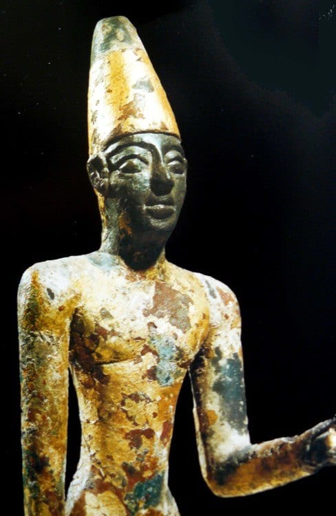 A statue of the Phoenician god Reshef