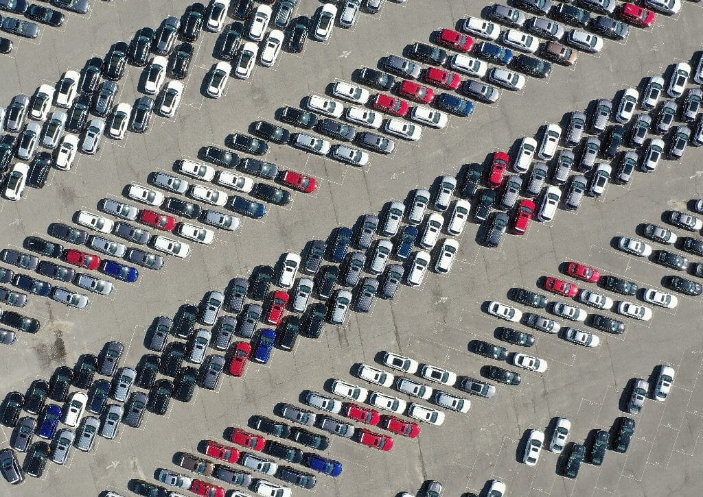 Stock of unsold cars