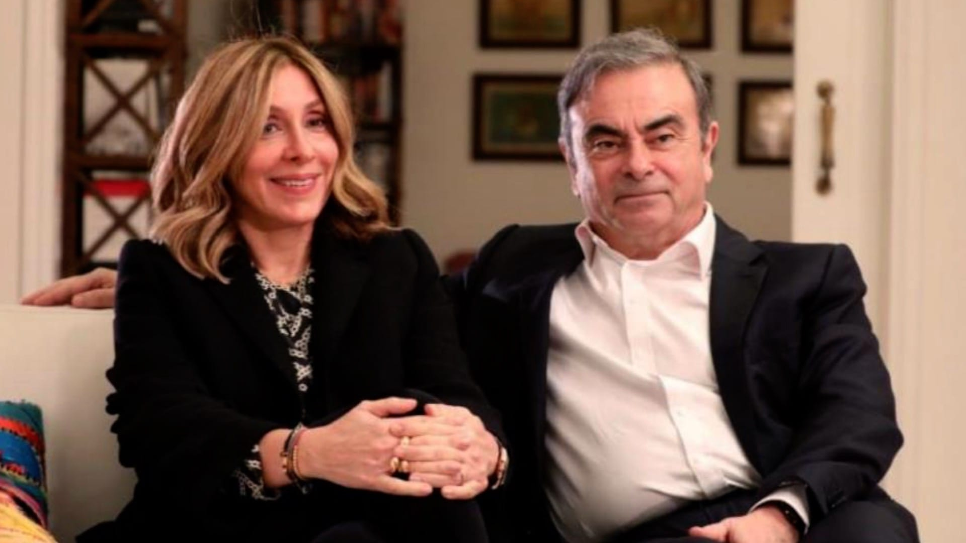 Carlos Ghosn and his wife in Beirut