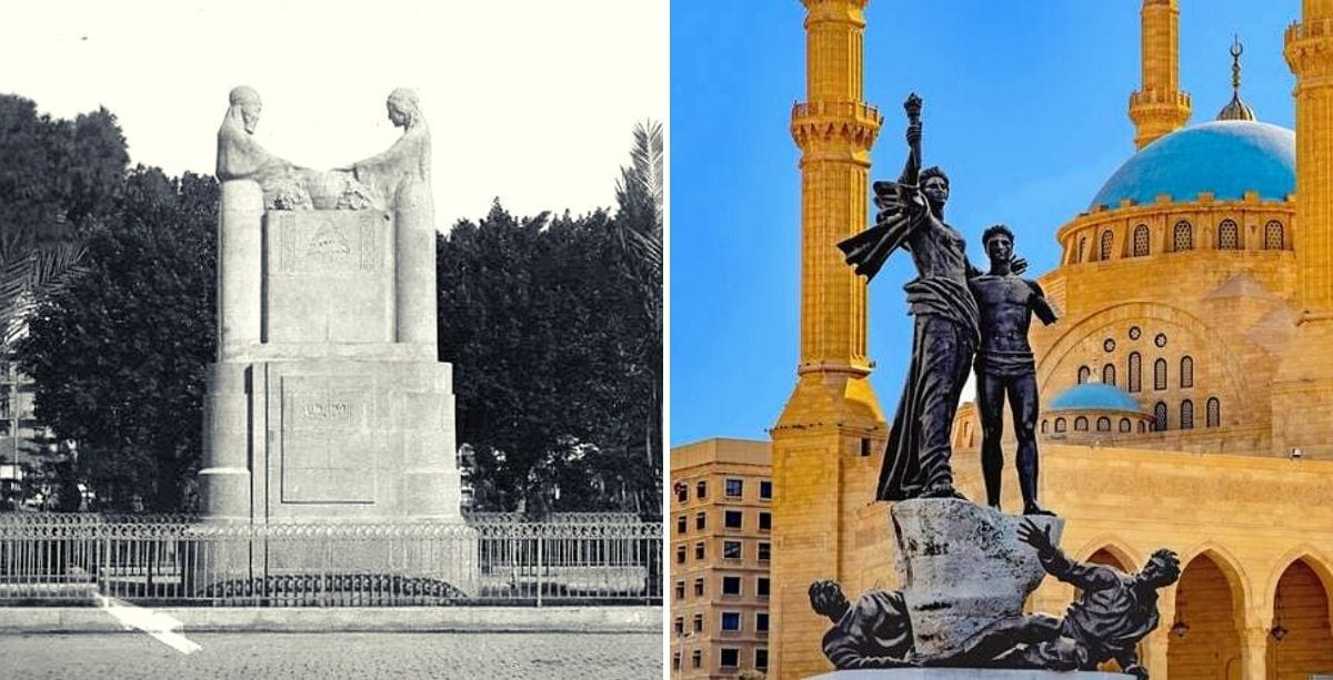 Beirut Had A Different Martyrs' Monument In The Past