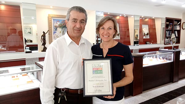 Lebanese jewelry store owner Samir Pierre Farhat and his wife Beatrice