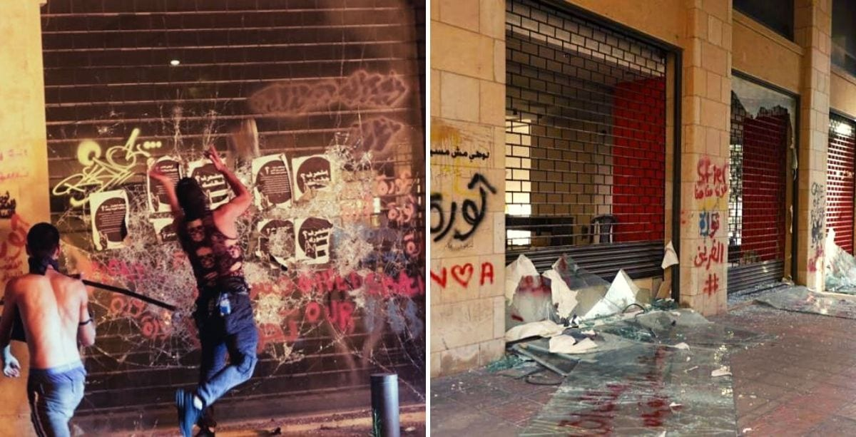 Thugs Sent To Destroy Stores In Beirut Trying To Discredit Revolution