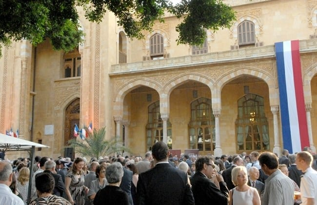 The French Embassy in Beirut