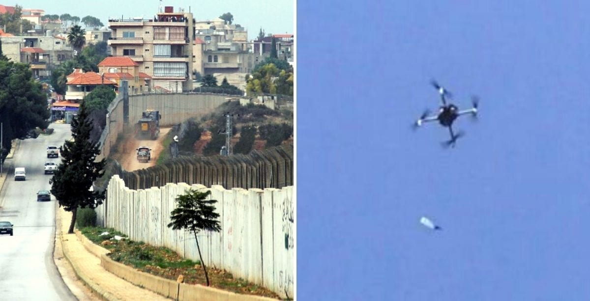 Israeli Drones Violate Lebanese Airspace To Drop A Bottle