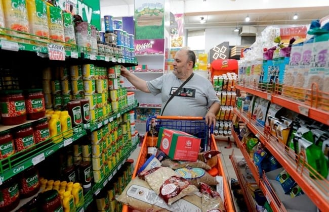 Lebanese man shopping at a supermarket