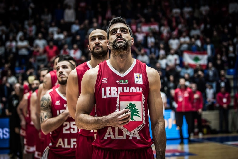 The Lebanese basketball team