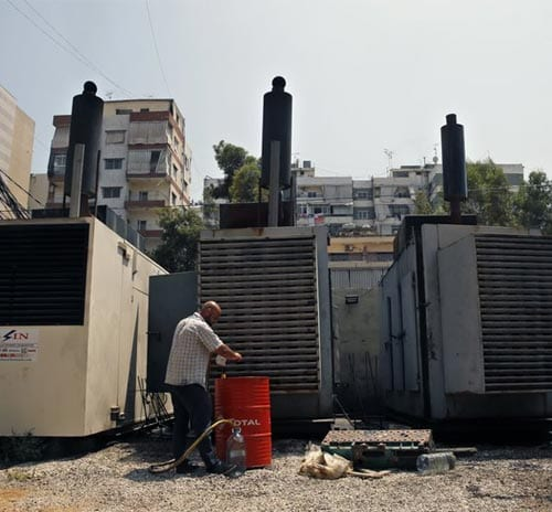 Private generators in Lebanon