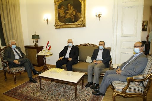 MP Mohammad Raad and Foreign Minister Nassif Hitti