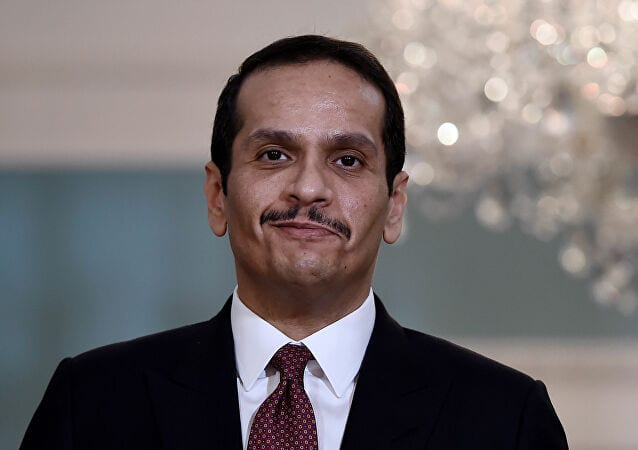 The Qatari Foreign Minister