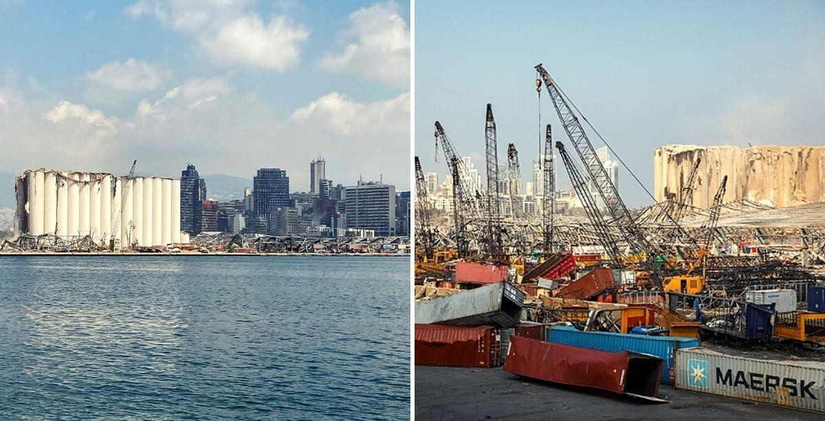 13 Out Of 16 Cranes At Beirut Port Are Now Working