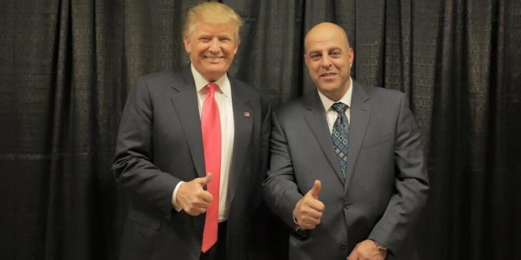Fakhoury alongside US President Donald Trump