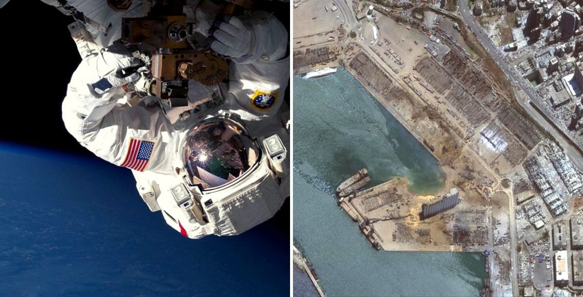 Astronaut In Space Just Tweeted His Support For Beirut