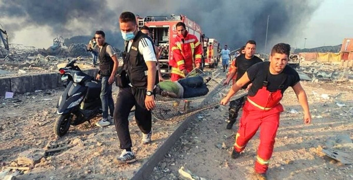 Team of Firefighters Are Currently Missing Following Beirut Explosion