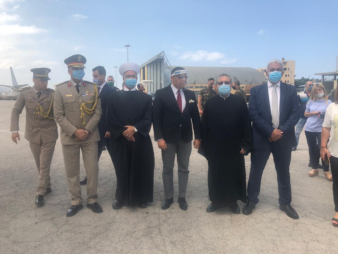 The Egyptian aid arrives in Beirut