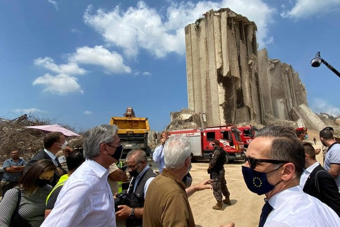 Heiko Maas in Beirut a week after the explosion