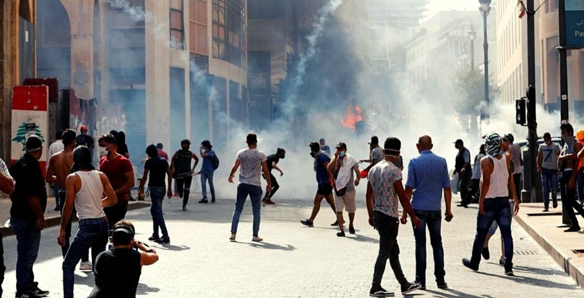 Protestors Are Being Teargassed In Beirut