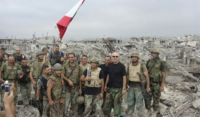 Army soldiers in Nahr Al-Bared