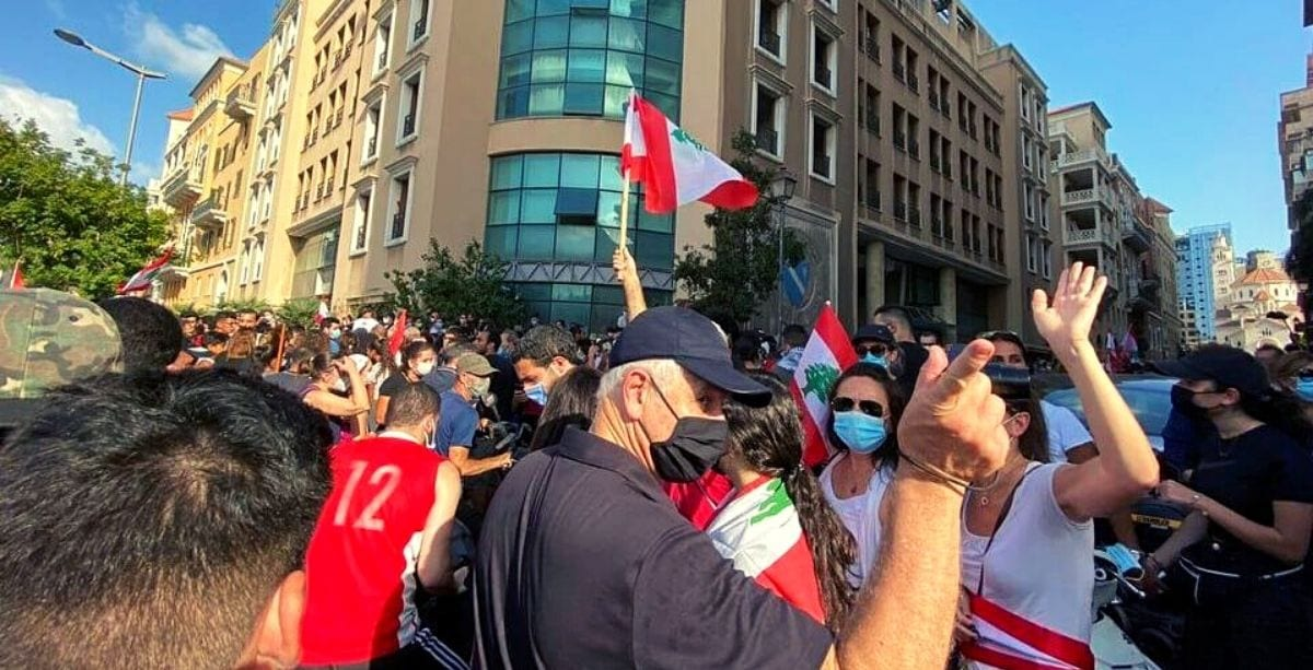 Protesters Take Over Ministry of Economy and Trade building in Beirut