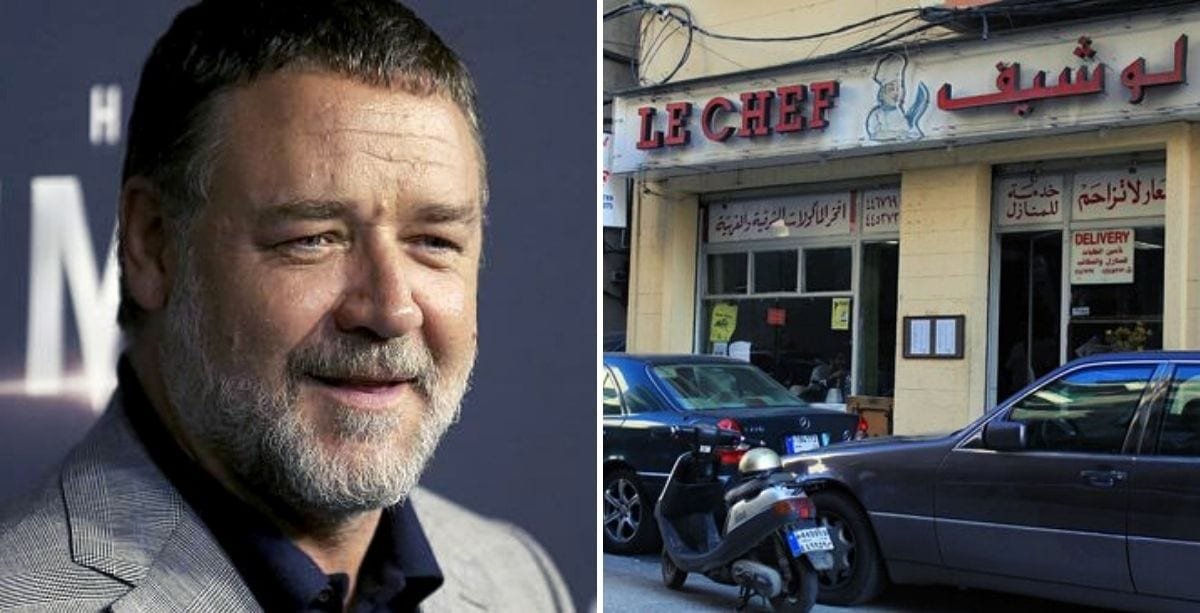 Russell Crowe Donated $5,000 To A Beirut Restaurant