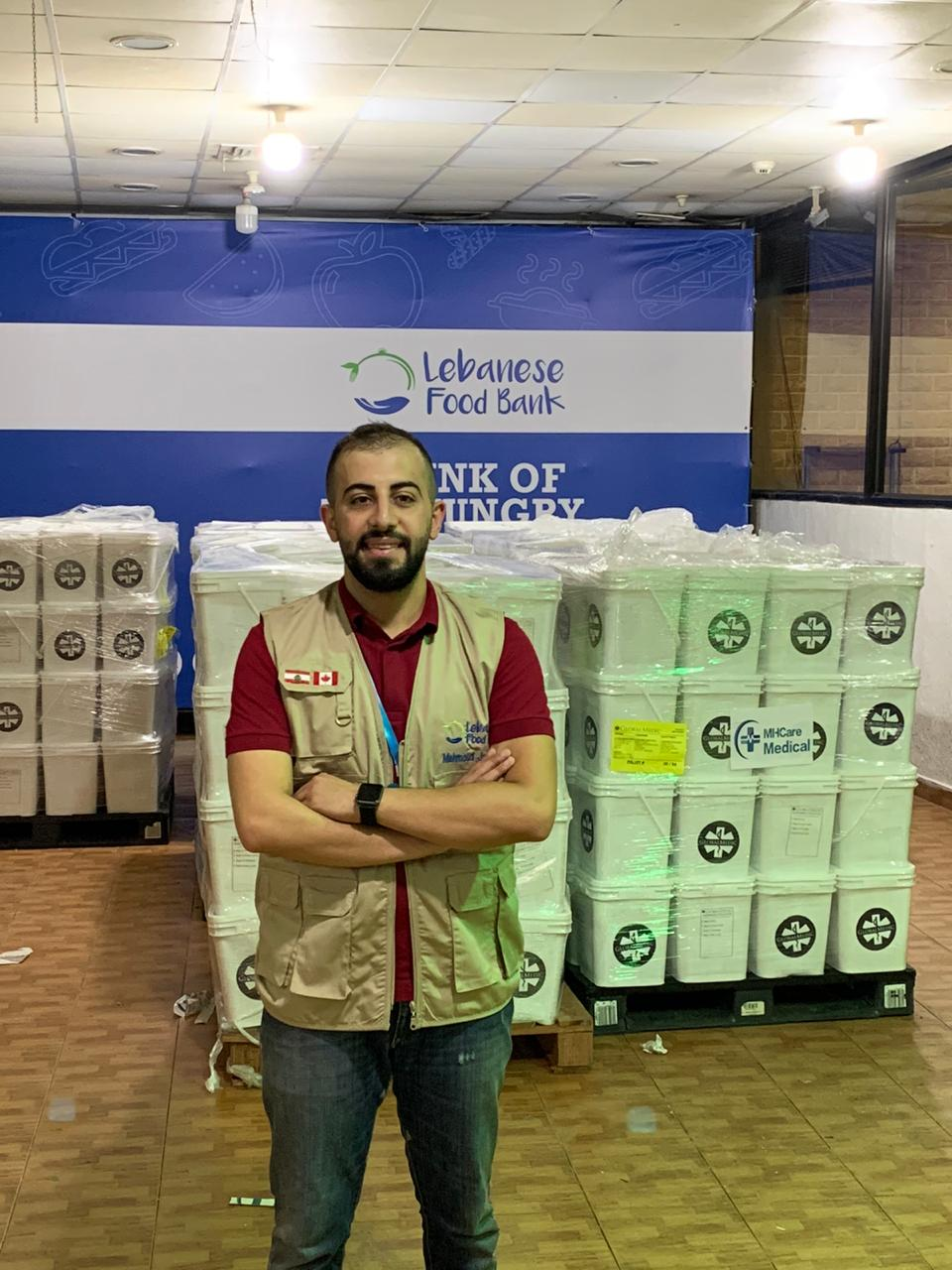 The Lebanese Food Bank has received 10 skids of foodstuffs