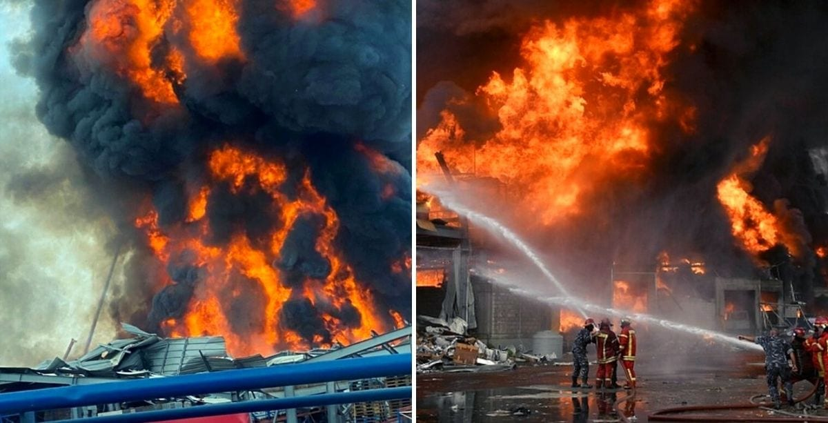 A Massive Fire Broke Out At Beirut Port