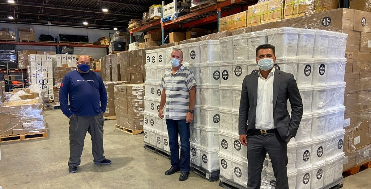 Aid packages prepared for shipment to Lebanon