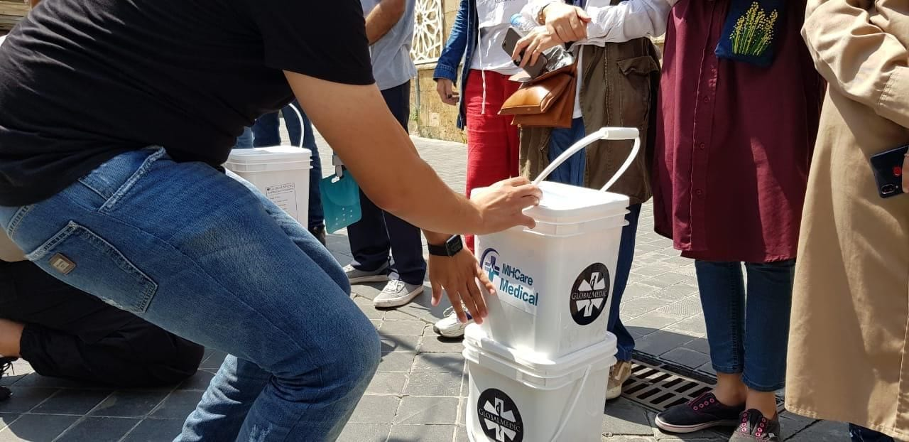 Food buckets donated to Lebanese families by GlobalMedic.