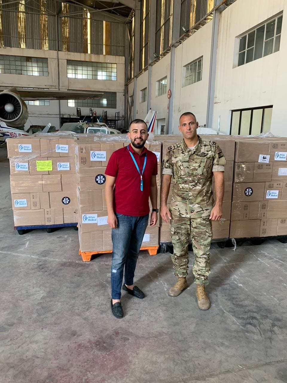 The Lebanese Army unloaded the Canada for Lebanon shipment