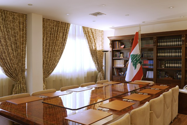 The meeting room in Baabda Palace