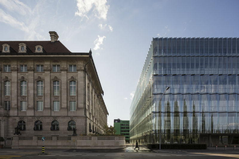 Swiss Re headquarters in Zurich, Switzerland.