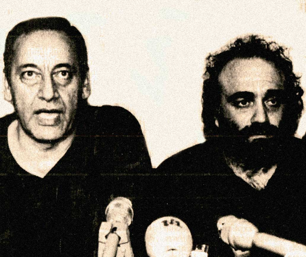 Demis Roussos alongside Amal Movement leader Nabih Berri