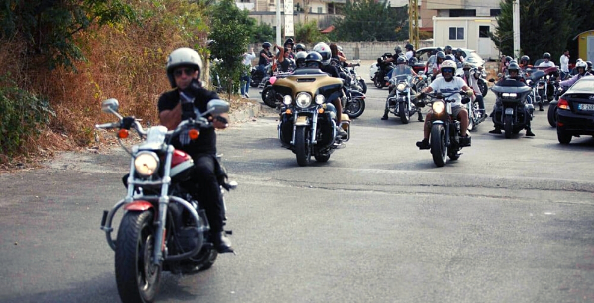 Bikers Rode Around In Lebanon To Raise Awareness About Breast Cancer