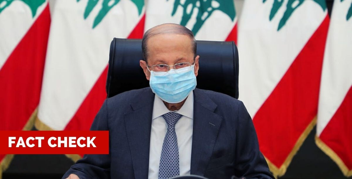 Fact Check_ Did President Aoun Test Positive For Coronavirus