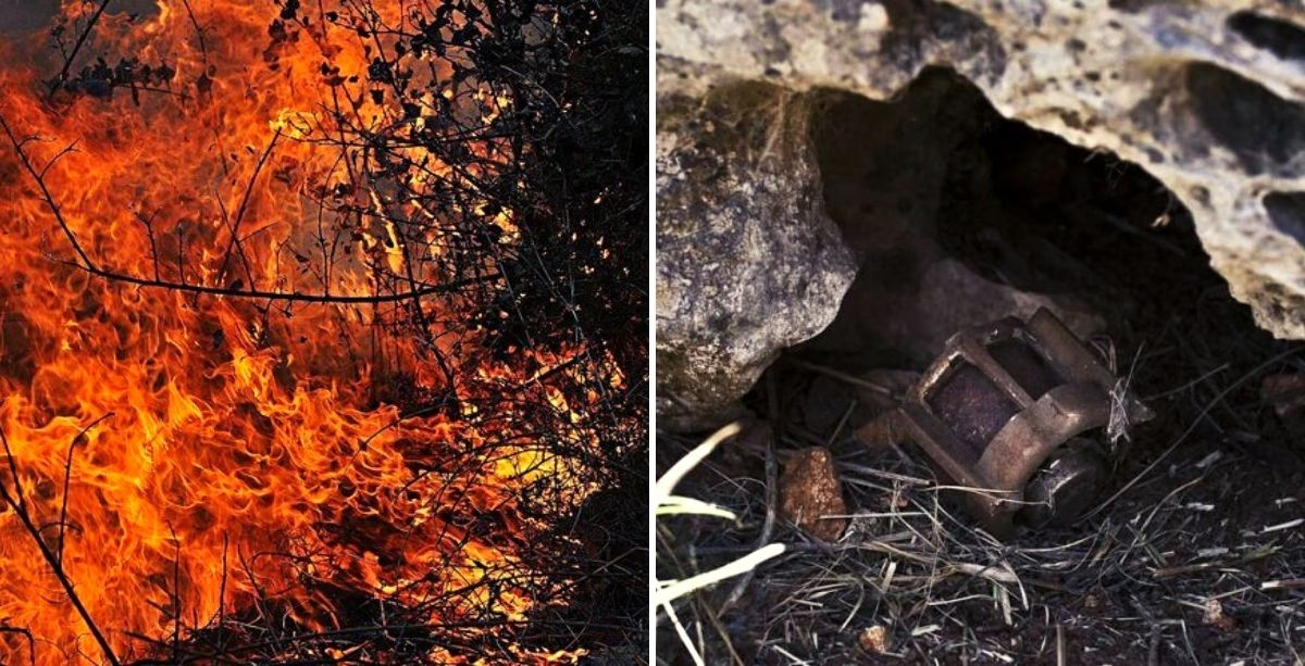 Lebanon Fires Triggered Mines Along The Southern Border