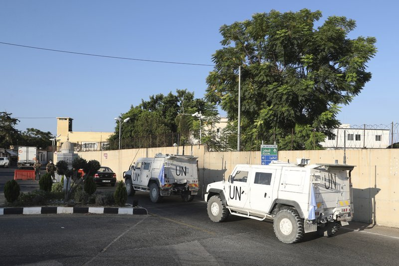 UNIFIL vehicles in Naqoura, South Lebanon