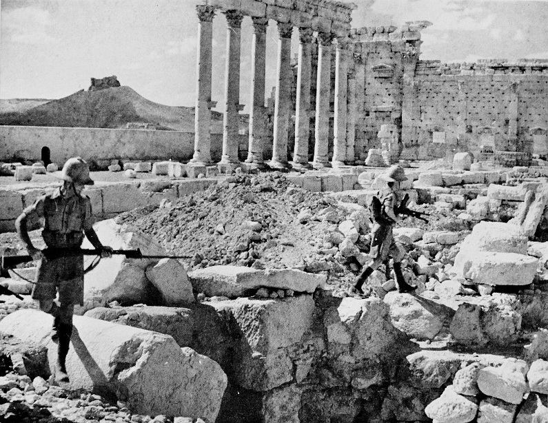 Allied soldiers entered Syria and Lebanon in the second year of WWII.