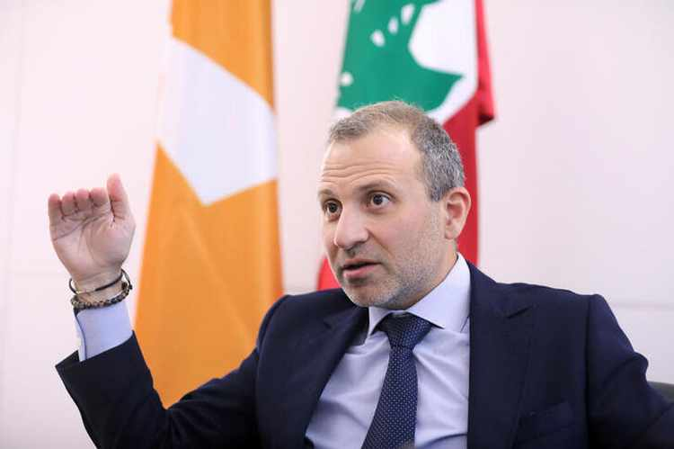 Gebran Bassil during an interview.